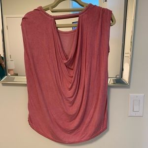 Low back- pink cotton top